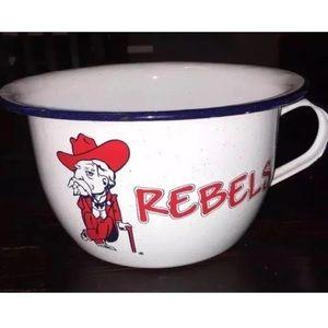 Vintage Colonel Rebel Popcorns Pot Bowl